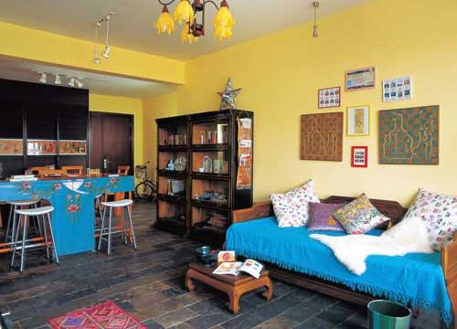 时尚的新中式风格客厅