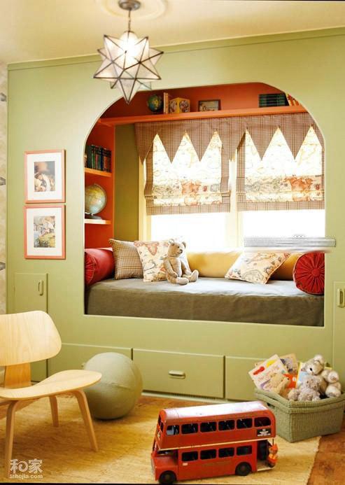 童话般美丽的儿童卧室