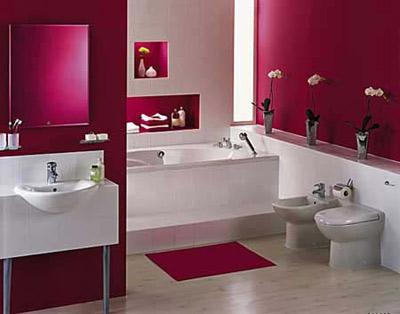 新婚卫浴也要红色