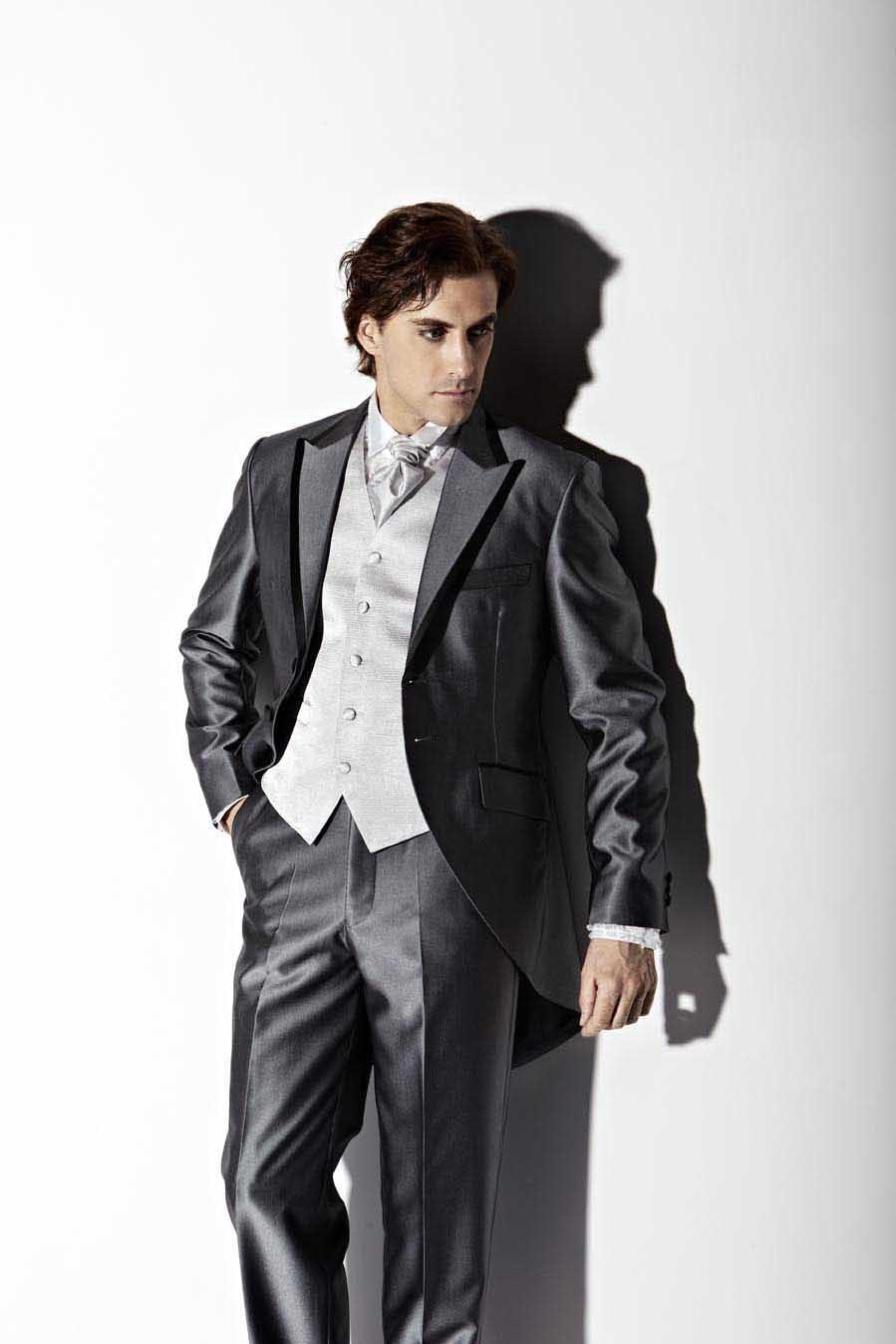 光泽感面料男装多用于礼服设计