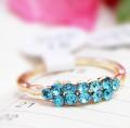 韩国饰品 纯手工点钻水晶戒指 指环 水晶手工饰品批发