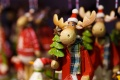 棉线加珠片和水晶珠圣诞驯鹿工艺品装饰