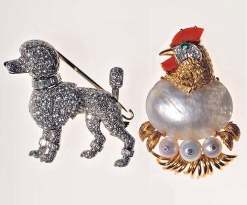 grace kelly王妃欣赏卡地亚设计的动物造型珠宝中所蕴藏的诗意:一只用
